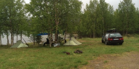 Nachtlager in Finnland